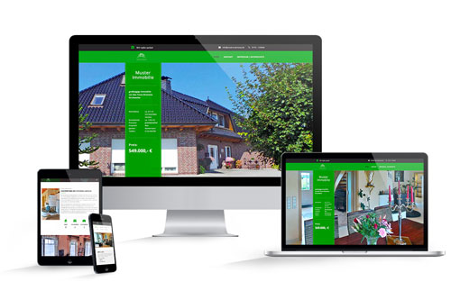 responsive immobilien-Homepage